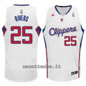 maglia austin rivers #25 los angeles clippers 2014-2015 bianca