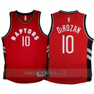 maglia bambino toronto raptors DeMar DeRozan #10 2015-2016 rosso