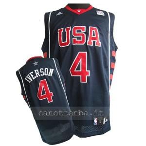 maglia basket allen iverson #4 nba usa 2004 bianca