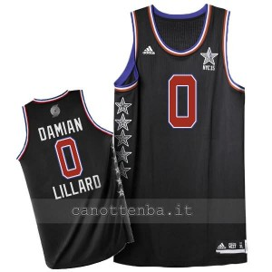 maglia basket damian lillard #0 nba all star 2015 nero