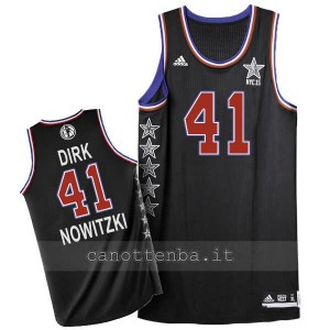 maglia basket dirk nowitzki #41 nba all star 2015 nero