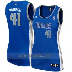 maglia basket donna dirk nowitzki #41 dallas mavericks blu