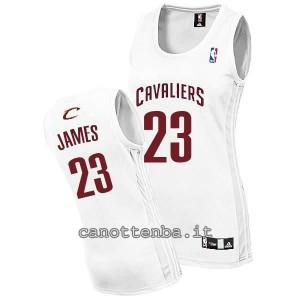 maglia basket donna lebron james #23 cleveland cavaliers bianca