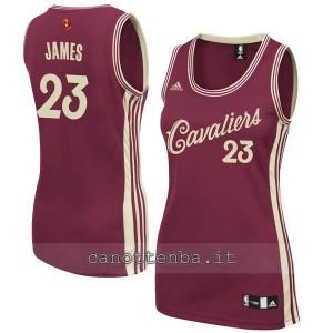 maglia basket donna lebron james #23 cleveland cavaliers natale 2015
