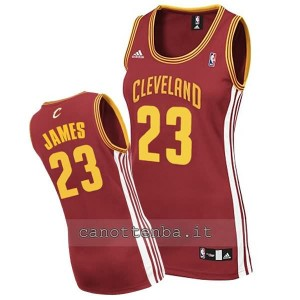 maglia basket donna lebron james #23 cleveland cavaliers rosso