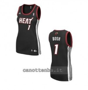 maglia basket donna miami heat chris bosh #1 nero