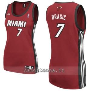 maglia basket donna miami heat goran dragic #7 rosso