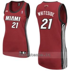 maglia basket donna miami heat hassan whiteside #21 rosso