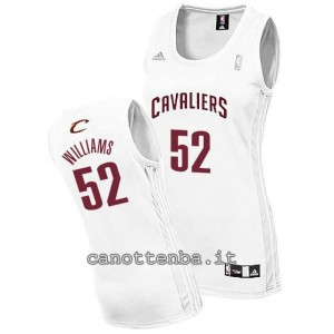 maglia basket donna mo williams #52 cleveland cavaliers bianca