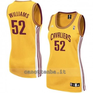 maglia basket donna mo williams #52 cleveland cavaliers giallo