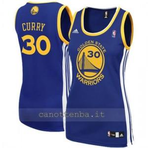 maglia basket donna stephen curry #30 golden state warriors blu