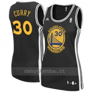 maglia basket donna stephen curry #30 golden state warriors nero