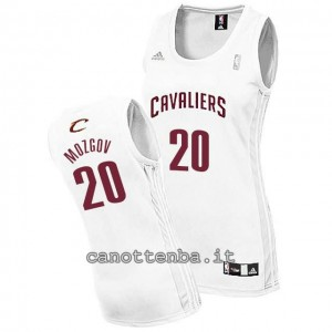 maglia basket donna timofey mozgov #20 cleveland cavaliers bianca