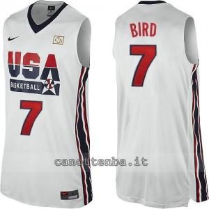 maglia basket larry bird #7 nba usa 1992 bianca