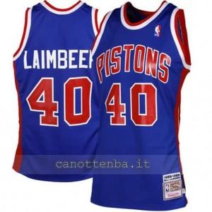 maglia bill laimbeer #40 detroit pistons blu
