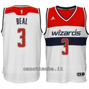 maglia bradley beal #3 washington wizards 2014-2015 bianca