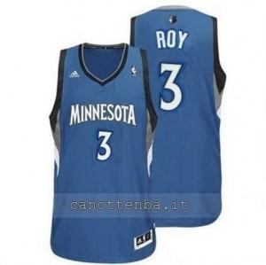 maglia brandon roy #3 minnesota timberwolves revolution 30 blu
