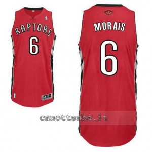 maglia carlos morais #6 toronto raptors revolution 30 rosso