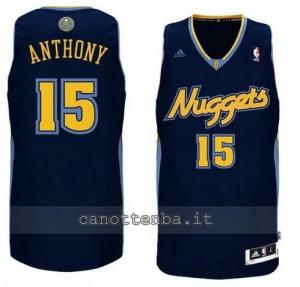 maglia carmelo anthony #15 denver nuggets revolution 30 navy