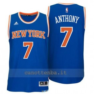 maglia carmelo anthony #7 new york knicks 2014-2015 blu