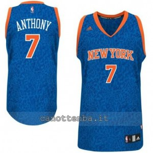 maglia carmelo anthony #7 new york knicks leopard