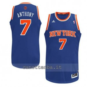 maglia carmelo anthony #7 new york knicks revolution 30 blu