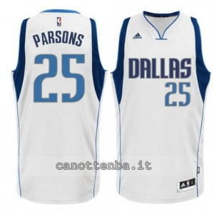 maglia chandler parsons #25 dallas mavericks 2015 bianca