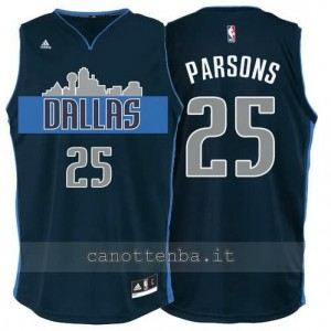 maglia chandler parsons #25 dallas mavericks navy blu