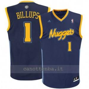 maglia chauncey billups #1 denver nuggets revolution 30 blu