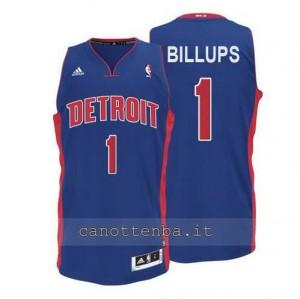 maglia chauncey billups #1 detroit pistons blu