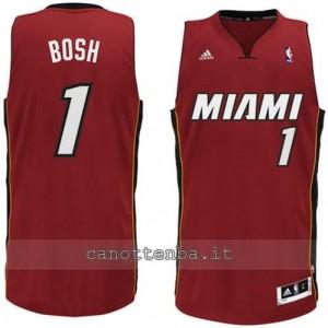 maglia chris bosh #1 miami heat revolution 30 rosso