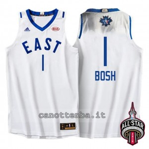 maglia chris bosh #1 nba all star 2016 bianca