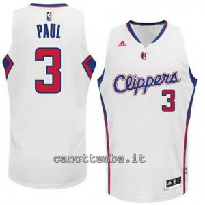 maglia chris paul #3 los angeles clippers 2014-2015 bianca