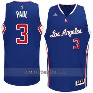 maglia chris paul #3 los angeles clippers 2014-2015 blu