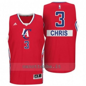 maglia chris paul #3 los angeles clippers natale 2014 rosso