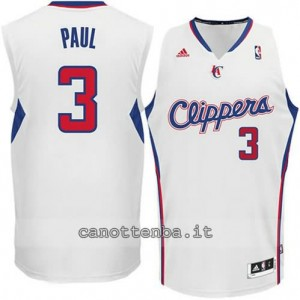 maglia chris paul #3 los angeles clippers revolution 30 bianca