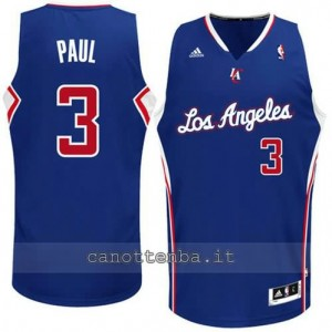 maglia chris paul #3 los angeles clippers revolution 30 blu