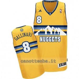 maglia danilo gallinar #8 denver nuggets revolution 30 giallo