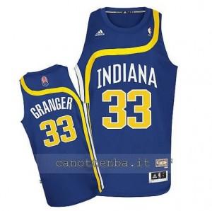 maglia danny granger #33 indiana pacers retro blu