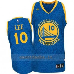 maglia david lee #10 golden state warriors leopard