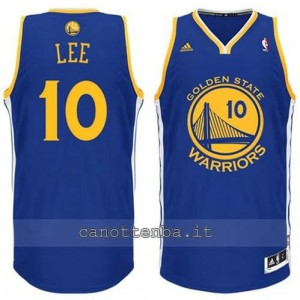 maglia david lee #10 golden state warriors revolution 30 blu