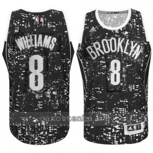 maglia deron williams #8 brooklyn nets lights nero
