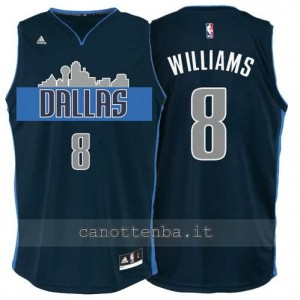 maglia deron williams #8 dallas mavericks navy blu