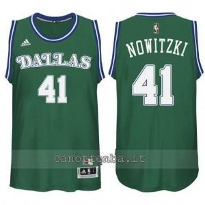 maglia dirk nowitzki #41 dallas mavericks classico verde