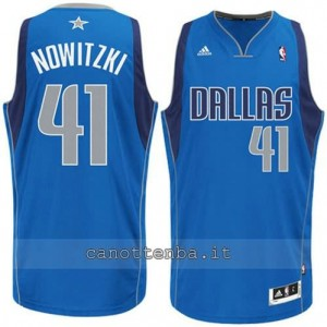 maglia dirk nowitzki #41 dallas mavericks revolution 30 blu