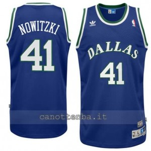 maglia dirk nowitzki #41 dallas mavericks soul blu
