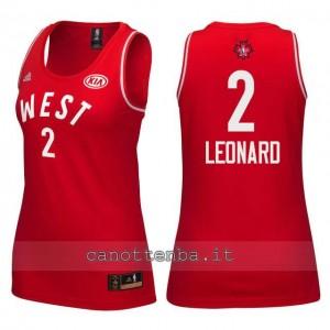 maglia donna nba all star 2016 kawhi leonard #2 rosso