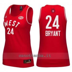 maglia donna nba all star 2016 kobe bryant #24 rosso