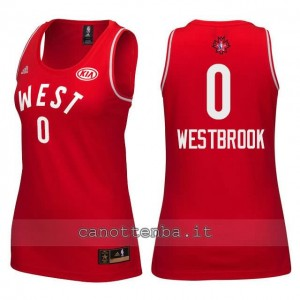 maglia donna nba all star 2016 russell westbrook #0 rosso