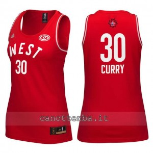 maglia donna nba all star 2016 stephen curry #30 rosso